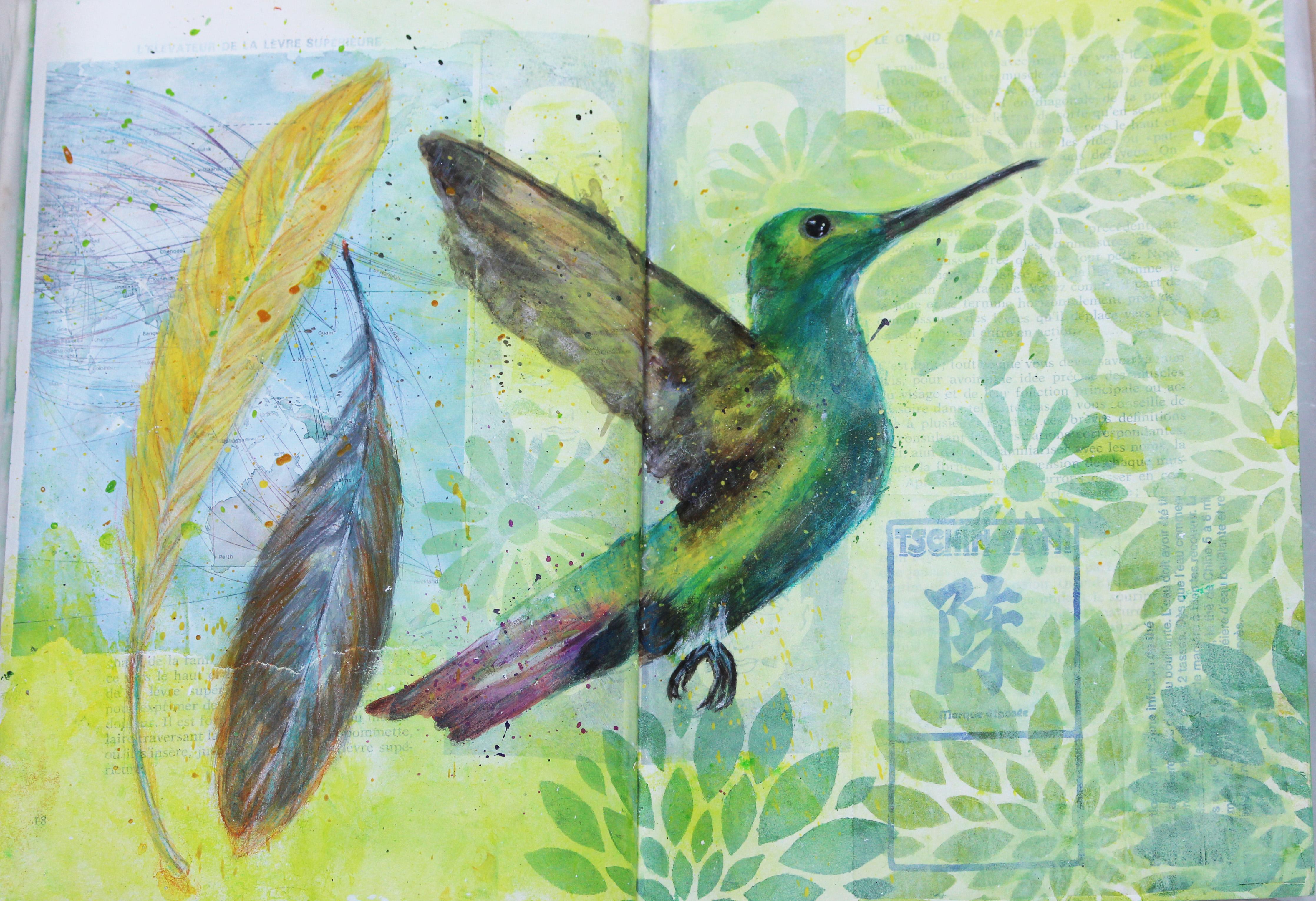 Sketchbook-Hummingbird // Carnet de croquis - Colibri