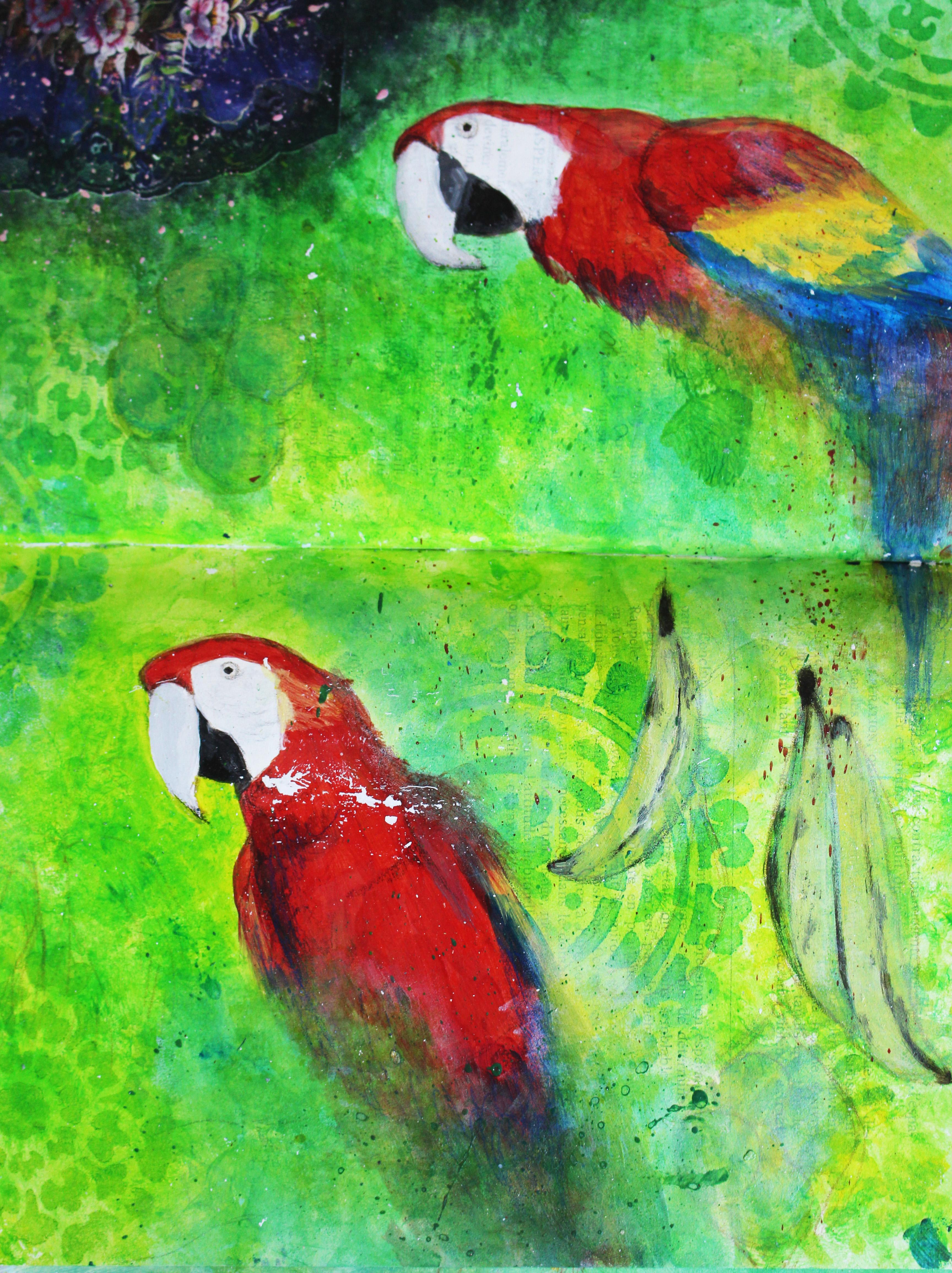 Sketchbook - Parrots // Carnet de croquis - Perroquets